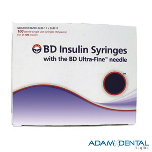 BD Ultra Fine II Insulin Syringes 0.5ml 30 Guage x 8mm Box of 100
