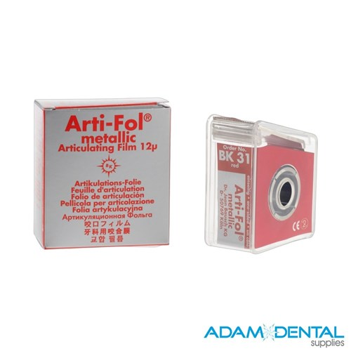 Bausch 12 Microns ArtiFol ShimFoil 22mm x 20m 1 Side Red