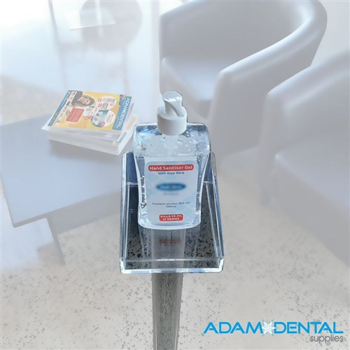 Hand Sanitiser Stand 99cm tall - Clear Perspex